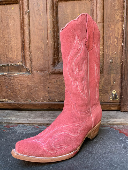 pink tuscadaro, pink boots, rough-out boots,