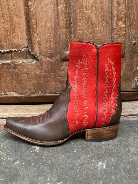 Chocolate Cherry Bomb Zorro Boots