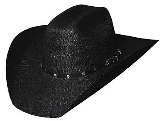 Bangora Black Straw Hat