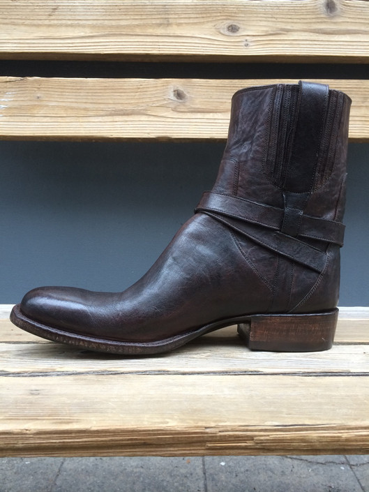 Urban Biker Boot with Strap and Buckle