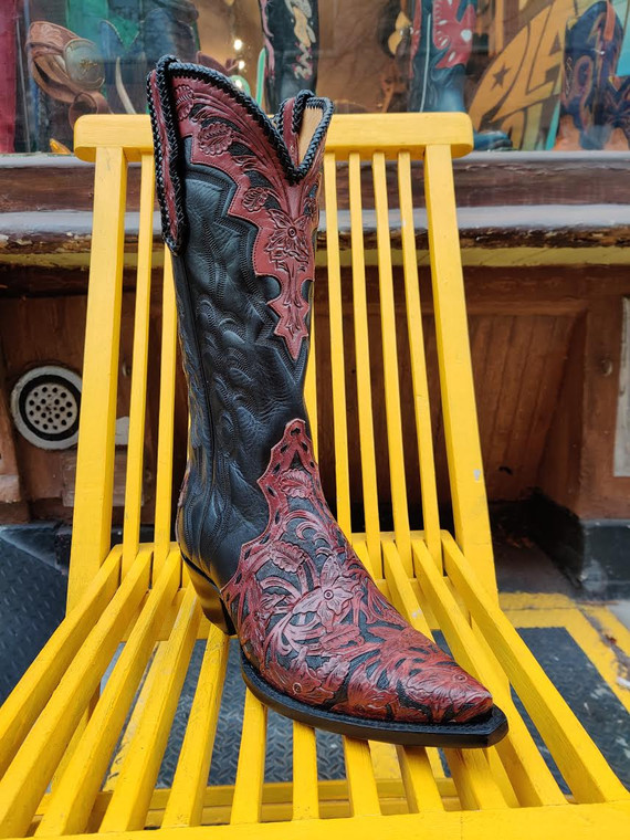 Liberty Boot Co. Tooled Triad