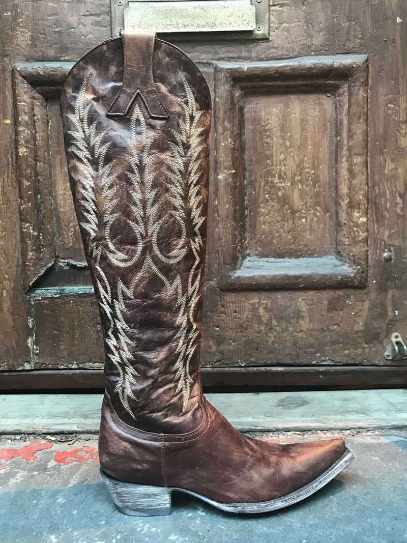 """Old Gringo Mayra Brass 17"""" tall Knee High Boot"""