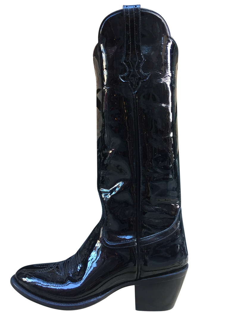 Patent Leather Cowgirl Boots Size 9.5 LEFT!!