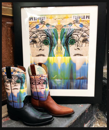 Mixed Media Artist Celebrates Wearable Art Collaboration with Space Cowboy's Signature Western Apparel Brand
