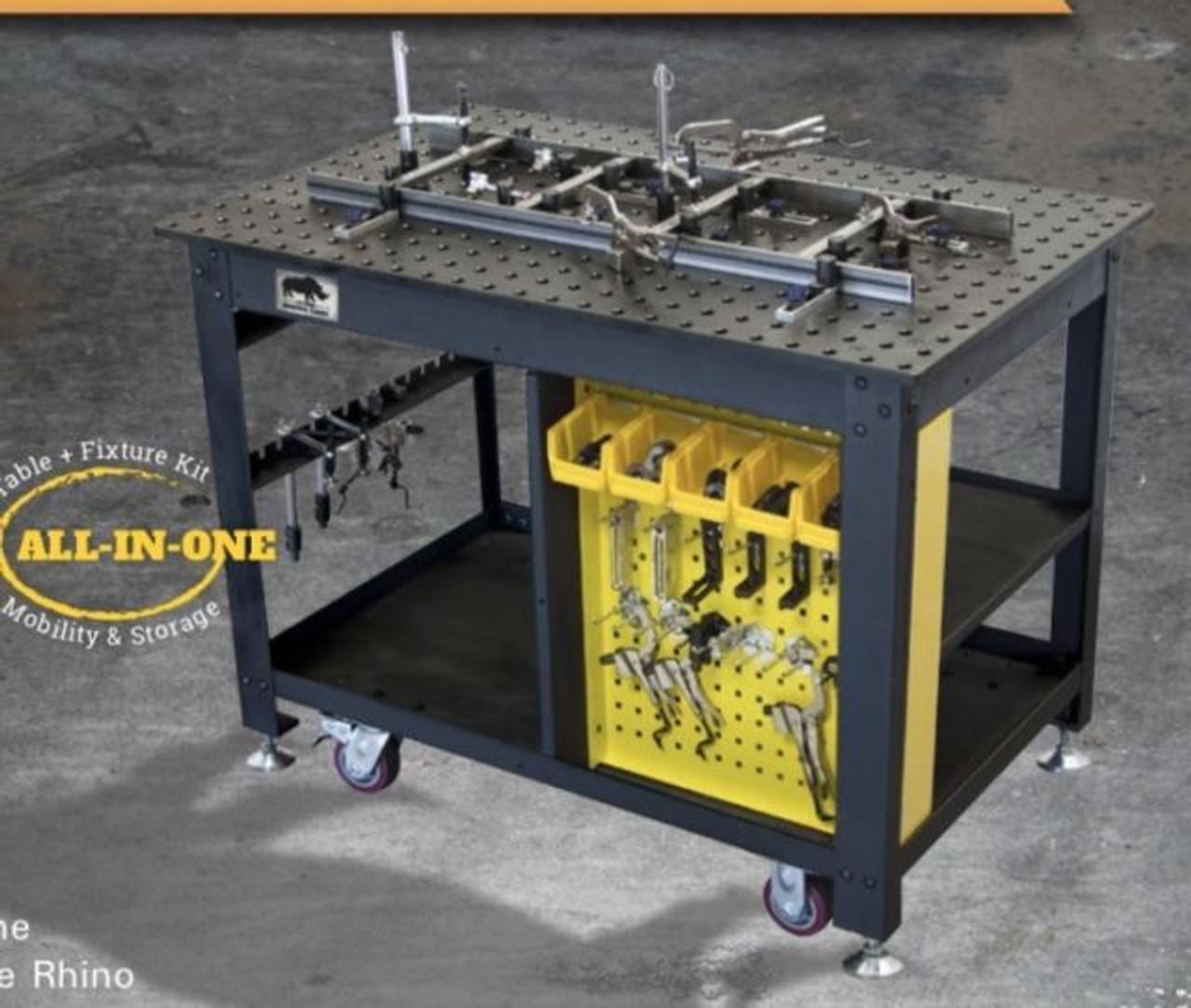 "Build Pro Max 48"" x 30"" Rhino Welding Table W/66 Piece Tool Kit"