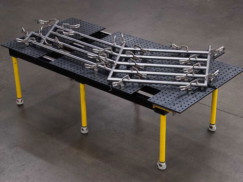 "Build Pro Max 96"" x 48"" Nitrided Welding Table With Legs"