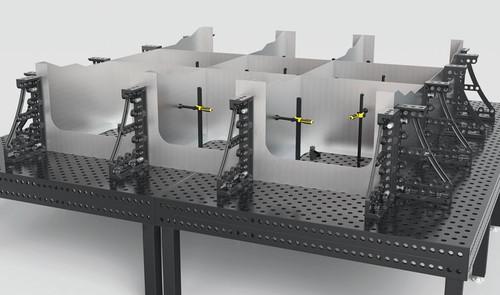 Siegmund Heavy Duty Cast Squares, 800 mm Height L