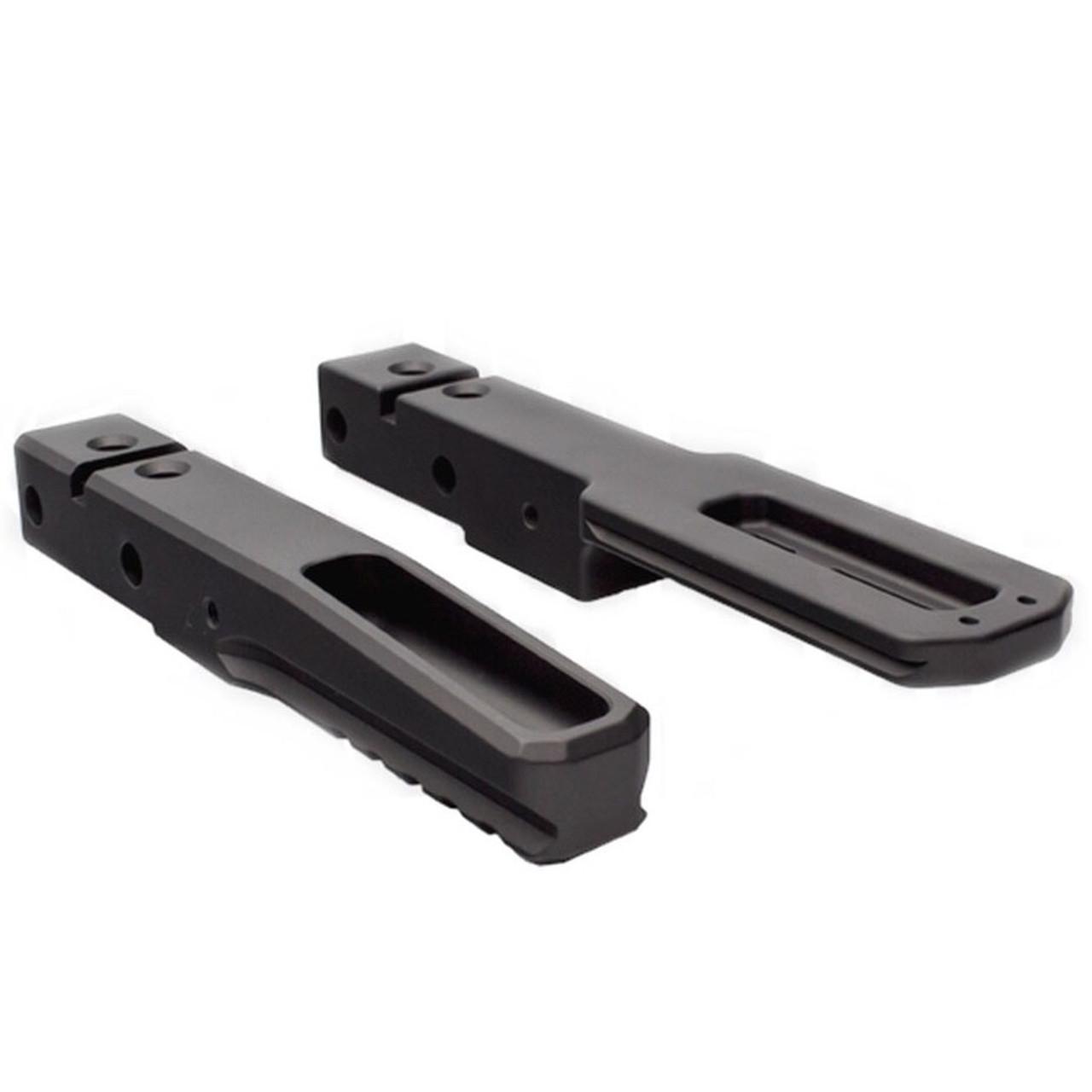 Universal Bi-Pod Picatinny Rail Adapter 17424 Asg Black Metal