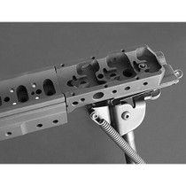 Spigot Mount On the front of a KRG Chassis barrel omitted to see attachment and bipod included. Fits Whiskey-3 Chassis, X-ray, or Bravo chassis.