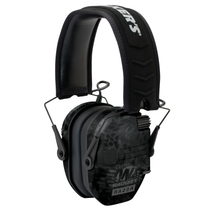 Walker Razor Slim Electronic Polymer 23 dB Over the Head Typhoon Camo Ear Cups w/Black Band