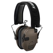 Walkers Razor Slim Electronic Polymer 23 dB Over the Head Flat Dark Earth Ear Cups w/Black Band