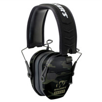 Walkers Razor Slim Electronic Polymer 23 dB Over the Head Black MultiCam Ear Cups w/Black Band
