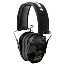 Walkers Razor Slim Electronic Polymer 23 dB Over the Head Black MultiCam Ear Cups w/Black Band