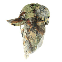 Forest Camo Hats w/Face Concealment