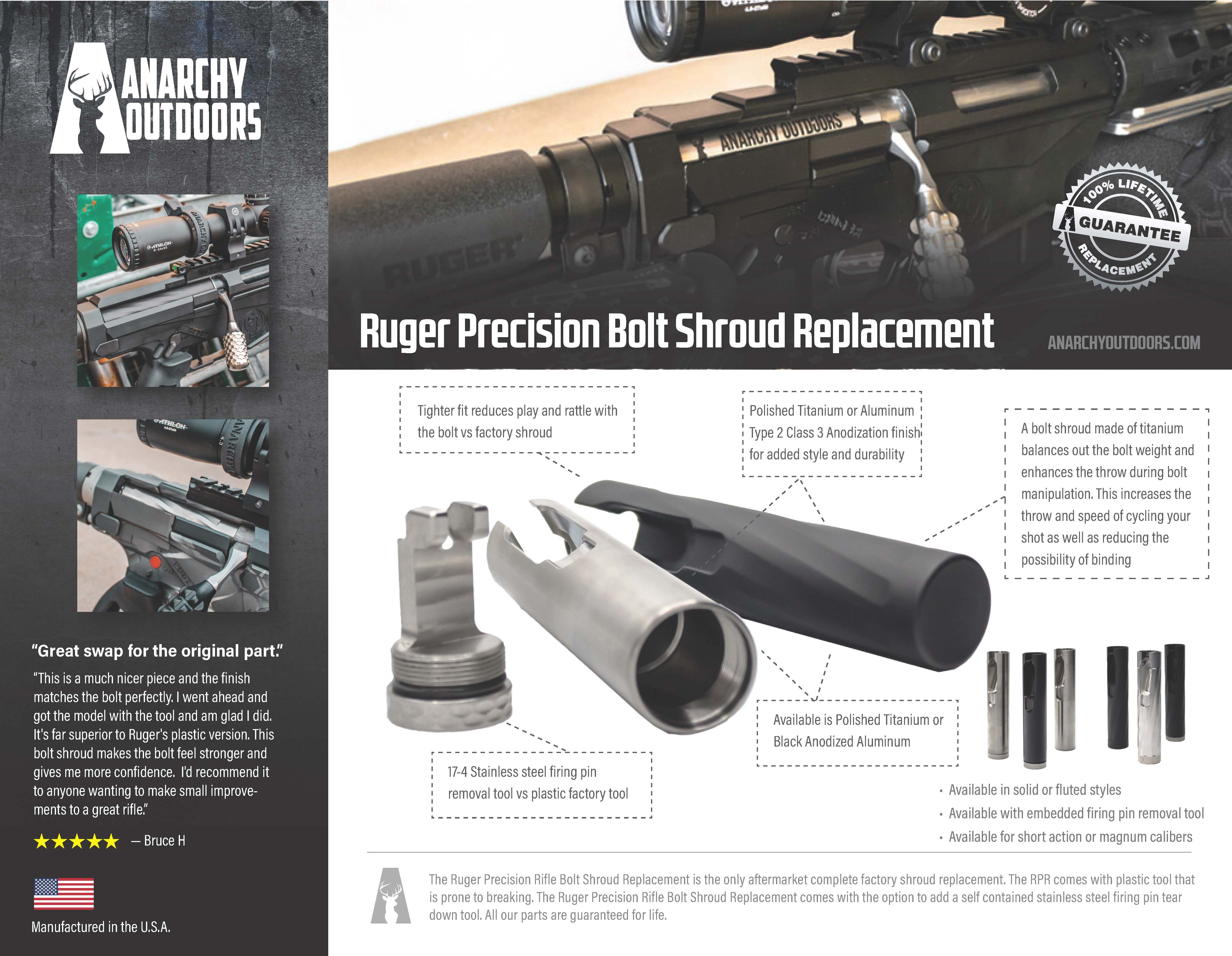 Ruger Precision Rifle Bolt Shroud Replacement
