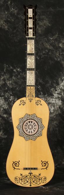 Decorated Sellas Baroque Guitar