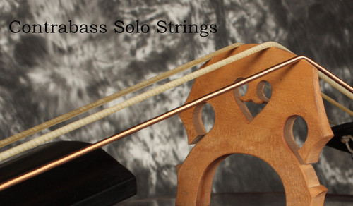 Solo bass string set