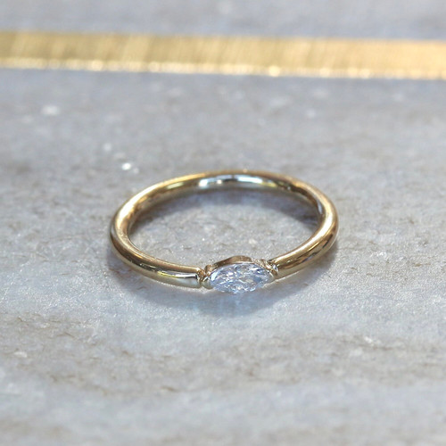 Marquise Diamond ring (outward facing)