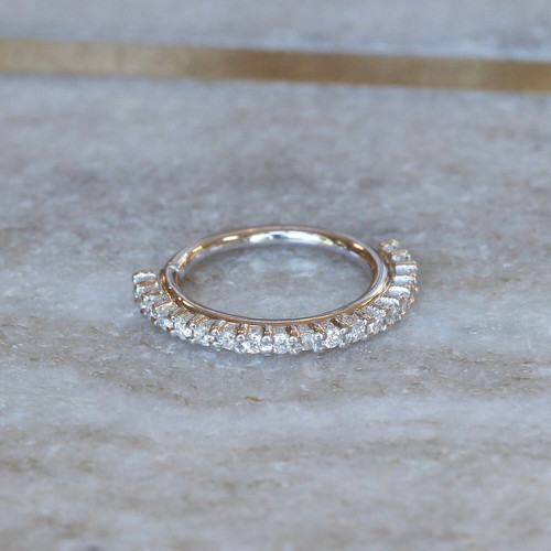 Telesto Diamond Pave Ring (outward facing)