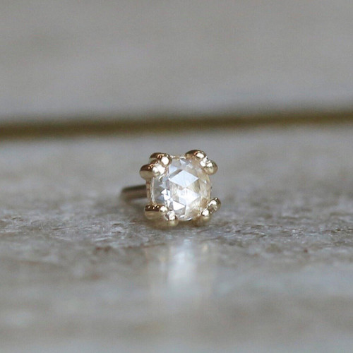 Rose Cut Diamond Cab Prong