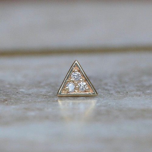 Pave Triangle - Diamonds