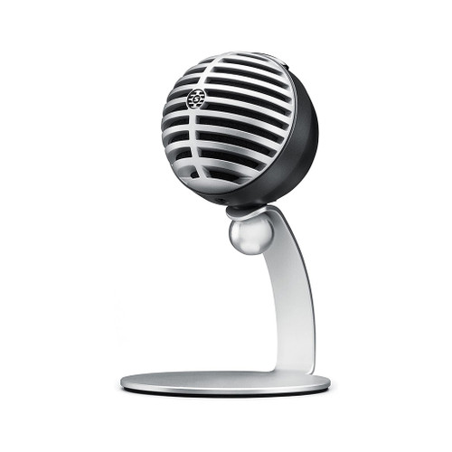 Silver Shure microphone
