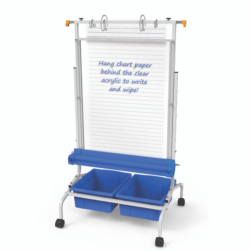 Copernicus CS700-CLR Clear Dry-Erase Chart Stand
