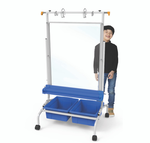 Copernicus Clear Dry Erase Room Divider