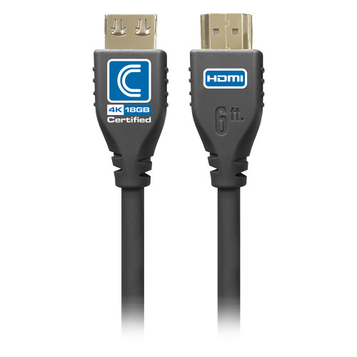 Comprehensive MicroFlex Pro AV/IT Certified 4K60 18G High Speed HDMI Cable with ProGrip Jet Black