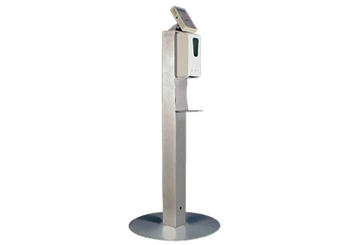 Protect 98 floor stand with temperature reader and hand sanitizer