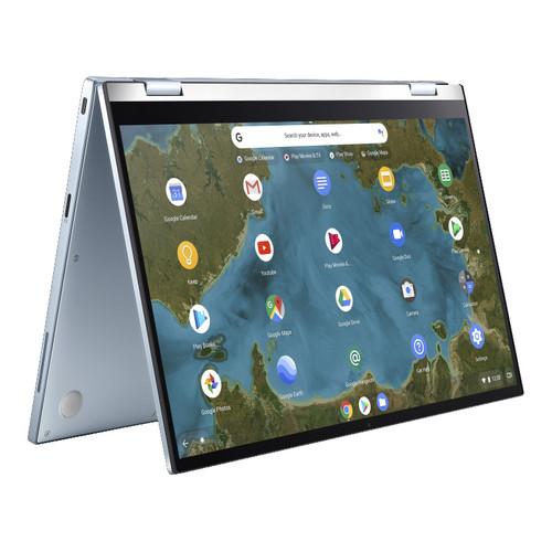 ASUS Chromebook Flip shown in tent mode