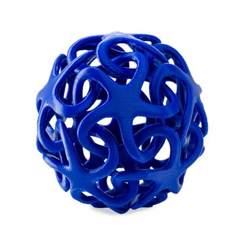 Blue 3D ornamental ball