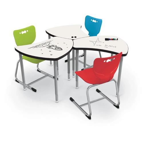 MooreCo Hierarchy Shapes Desk