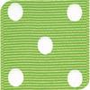 Apple Green & White Grosgrain Polka Dots