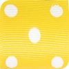 Maize & White Grosgrain Polka Dots