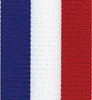 Patriotic, Red White and Blue Tri-Striped Grosgrain Ribbon.
