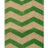 Green Chevron Burlap Ribbon