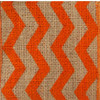 Orange Burlap Zag Striped Ribbon