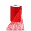 Red Lacey Tulle Fabric