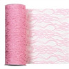 Pink Lacey Tulle Fabric