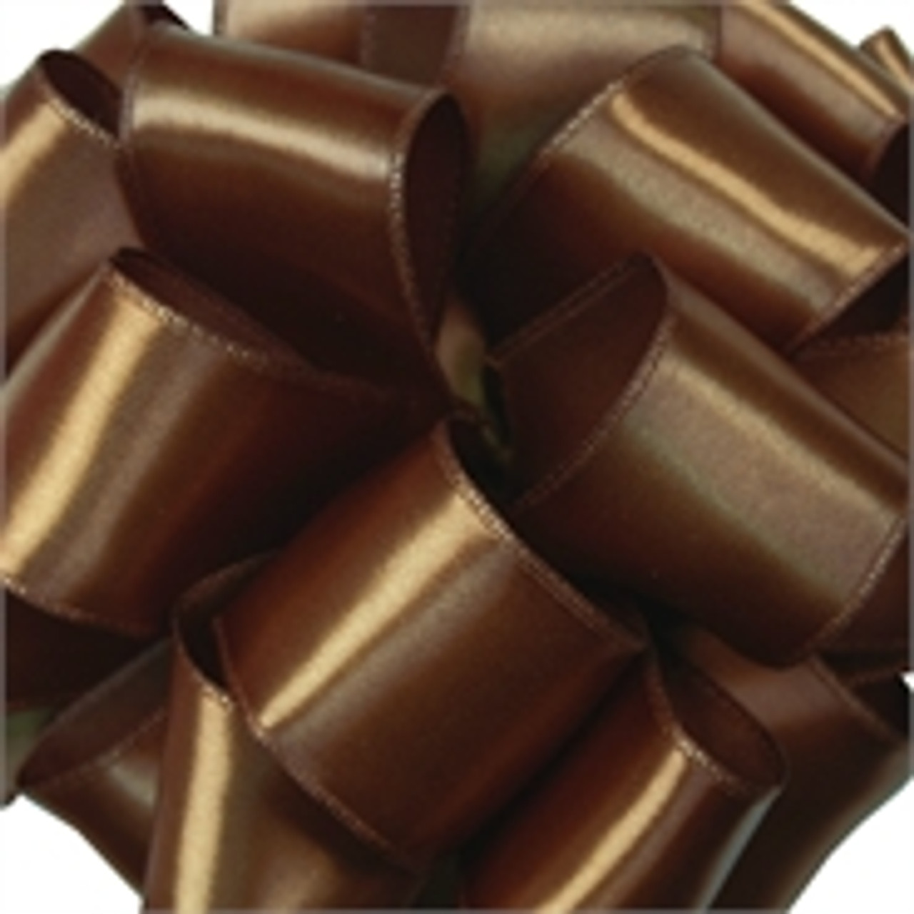 Chocolate Wired Satin Ribbon