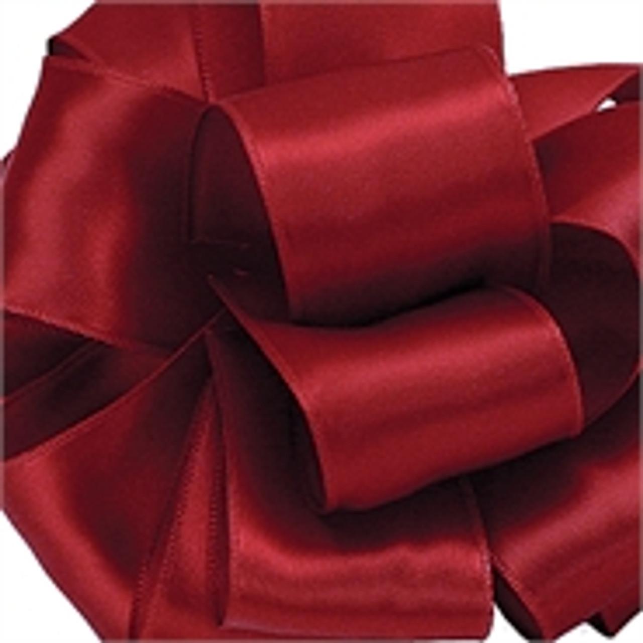 Scarlet Wired Satin Ribbon
