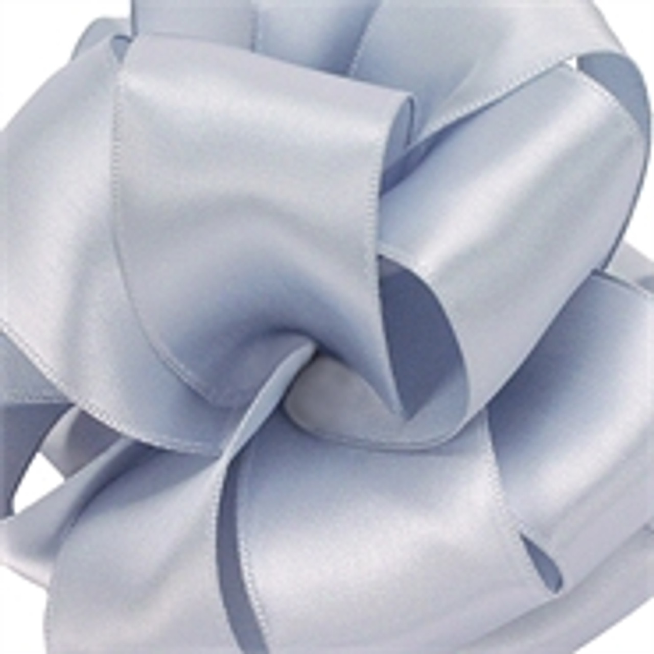 Silver Ice Wired Satin Ribbon