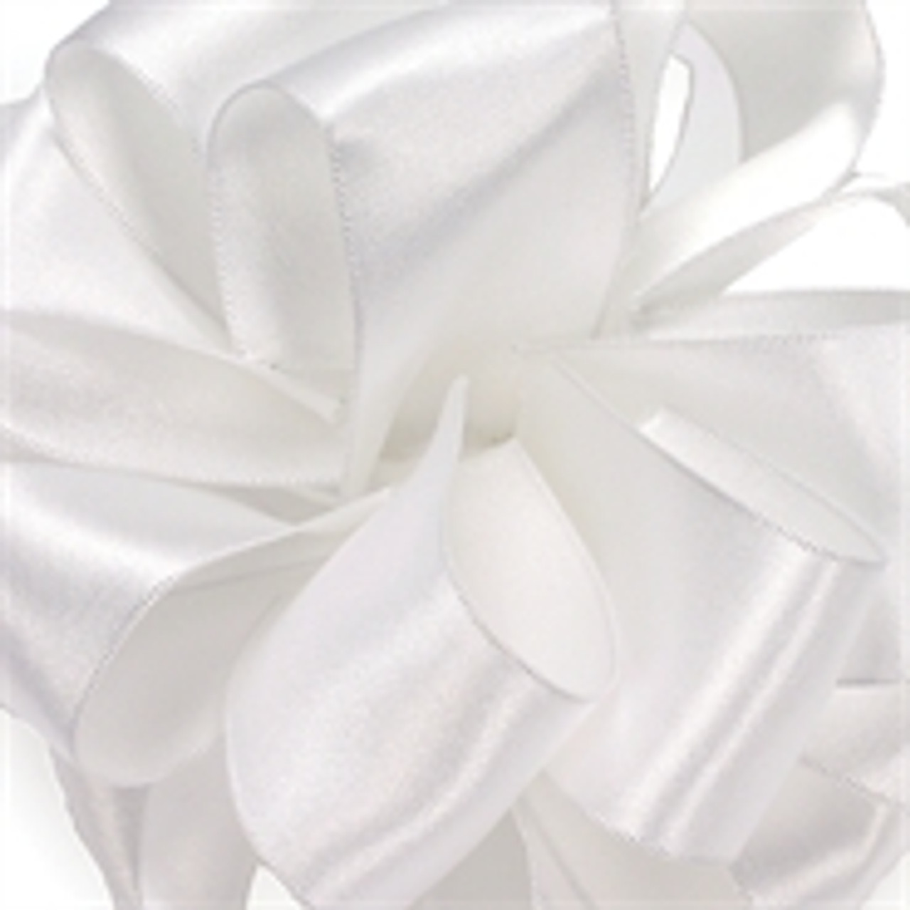 White Wired Satin Ribbon