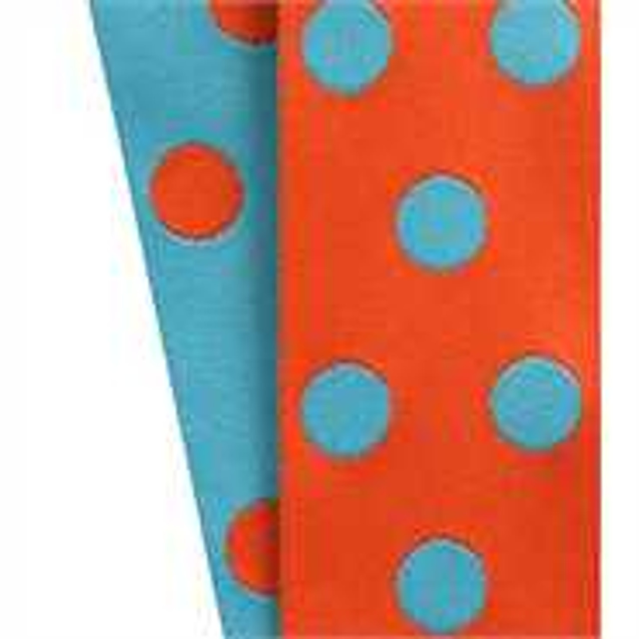 Cirq Orange Turquoise Reverse Dots
