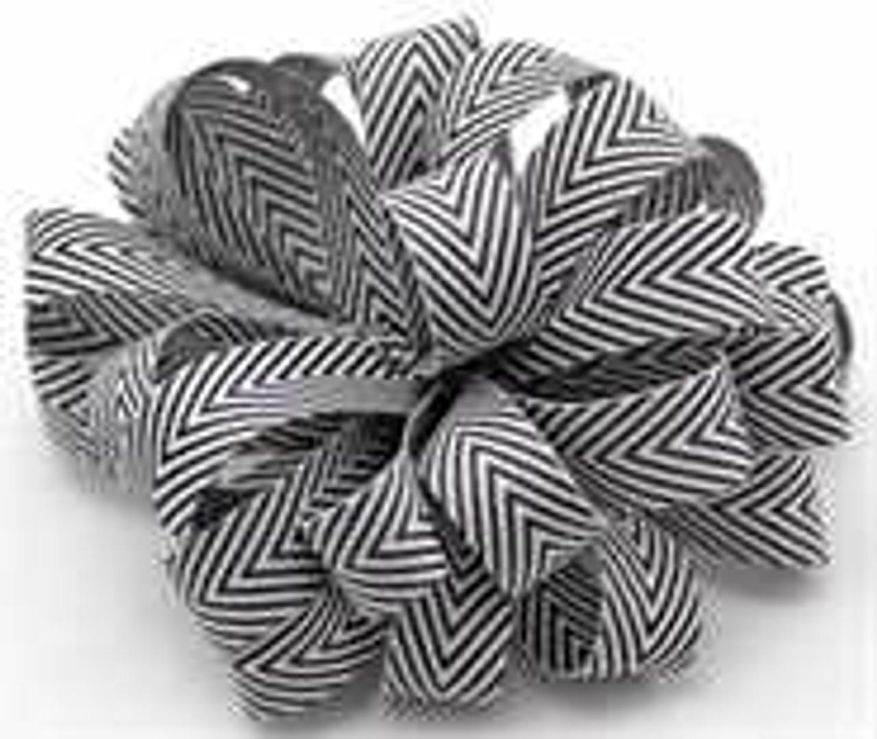 Kessie Twill Chevron Ribbon Black