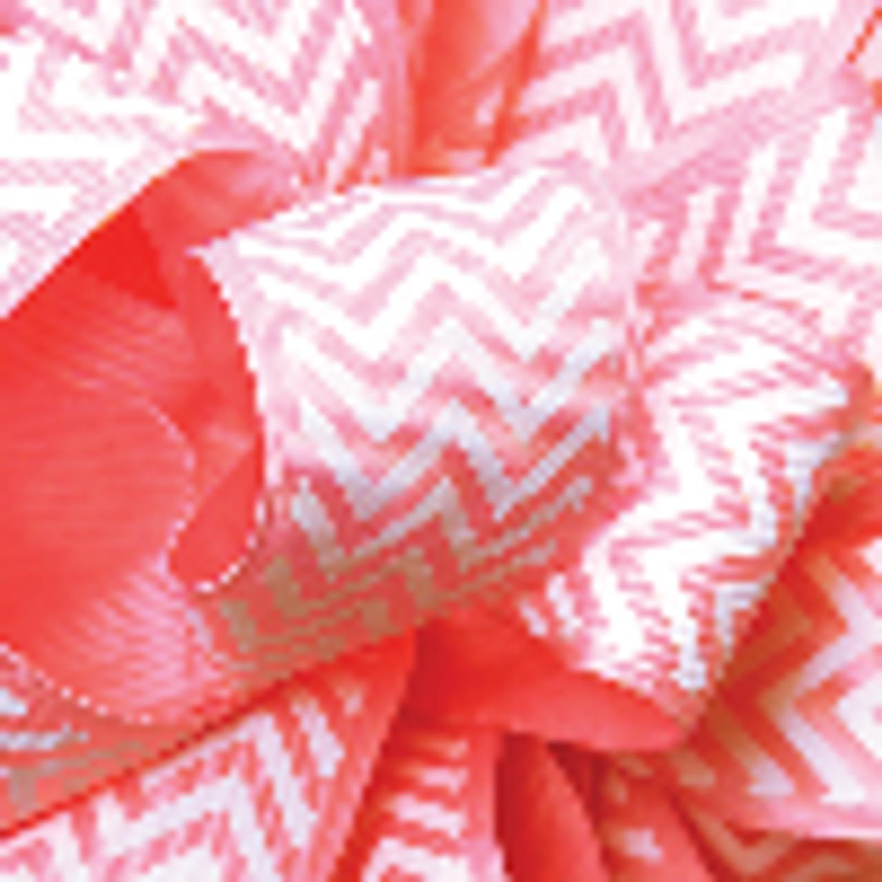 Pink Grosgrain Chevron Ribbon