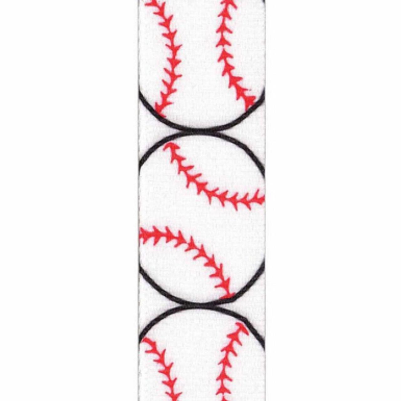 Baseball Grosgrain Sports Ribbon
