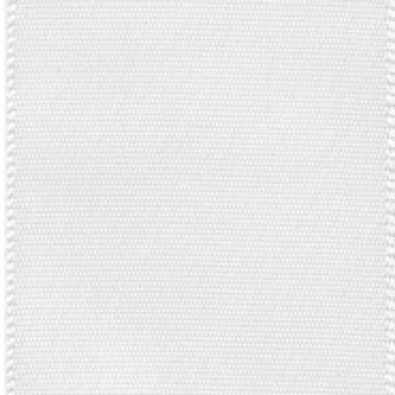 Wholesale White Single Faced Satin Ribbon.