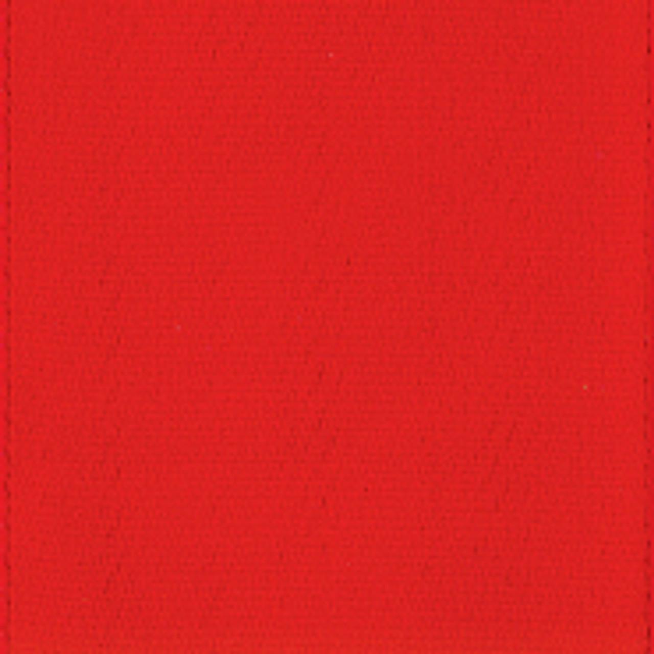 Hot Red Single Faced Satin Ribbon